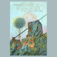 Cartolina commemorativa della Funicolare Aerostatica Camaiore-Alto Matanna inaugurata nel 1910 e che ebbe una vita di soli quattro mesi.