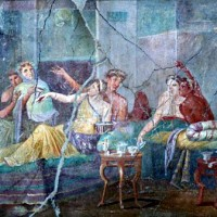 Esempio di triclinium. Casa degli Amanti, Pompei.