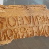 Fistula in piombo in cui compare il nome della famiglia dei Venulei