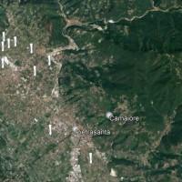 Distribuzione sul territorio versiliese dei cippi funerari etruschi in marmo con forma a clava.
