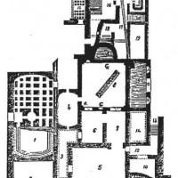 Planimetria (n. 15), da E. Ridolfi, Lucca, «Notizie degli Scavi di Antichità», 1878, pp. 227-230.