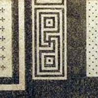 Esempi di pavimenti a mosaico con tessere bianche e nere. Palazzo San Francesco, Reggio Emilia.