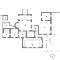 Pianta del complesso termale della metà del I secolo d.C.
