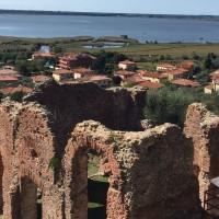 I ruderi del complesso termale della villa d'otium. Massaciuccoli (Massarosa)