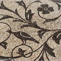 Esempio di mosaico a tralci vegetali